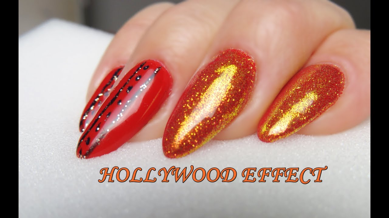 Sexy Red Hollywood Effect I Top Shine Bright Od Neonail Youtube