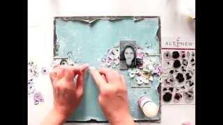Altenew scrapbooking layout tutorial from Elena Morgun
