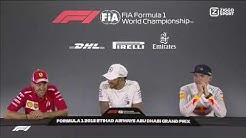 "F1 2018 | Abu Dhabi GP - Sebastian Vettel jokes about ""practice"" with Verstappen and Hamilton"