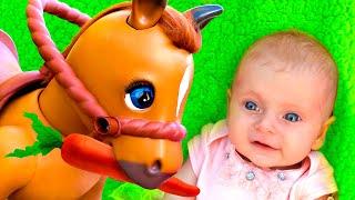 Забавная лошадка - Детская песня | Песни для детей от Майи и Маши.