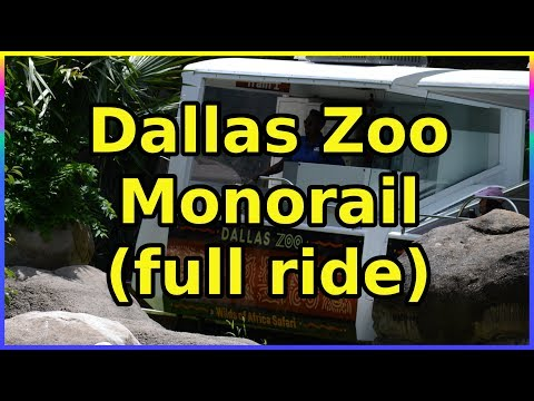 Dallas Texas Zoo Monorail- full ride