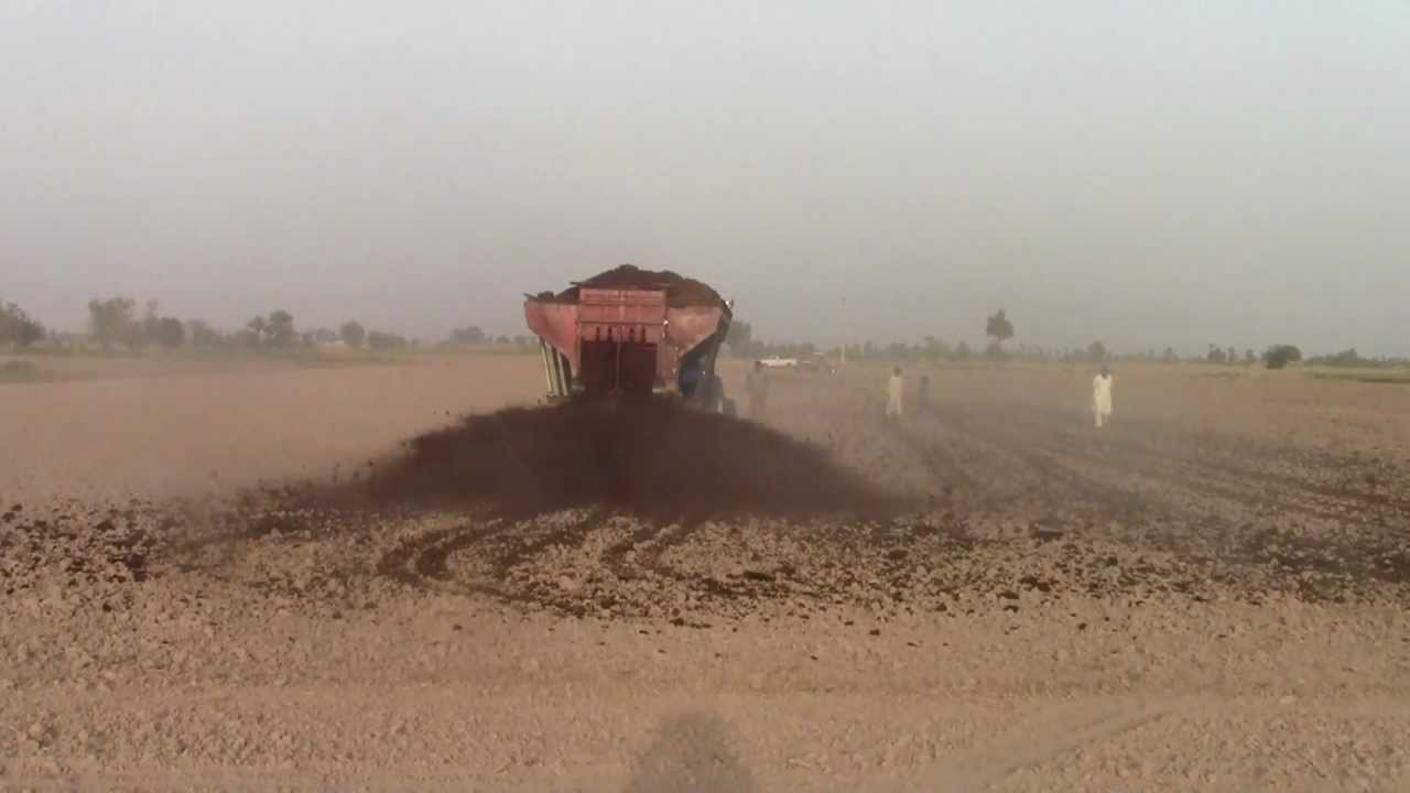 Working Manure Spreader : Farm yard manure spreader made in pakistan youtube