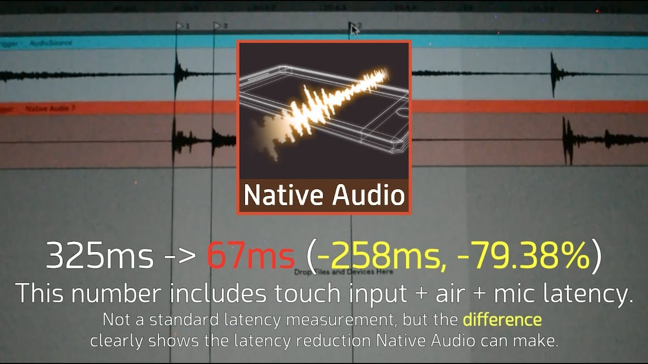 Native Audio - Lower audio latency via OS's native audio library