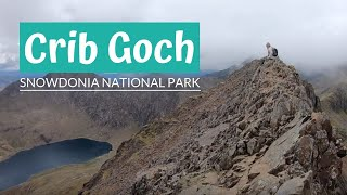 Crib Goch - Snowdon Climb - Snowdonia - regular people doing the knife edge grade 1 scramble
