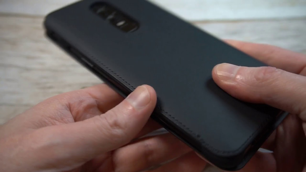 huge selection of c88cf e2161 Official OnePlus 6 Flip Cover Case Unboxing and Review