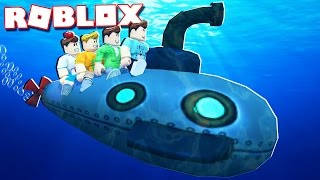 Roblox Adventures - ATTACK WITH AN UNDERWATER SUBMARINE IN ROBLOX! (Submarine War)