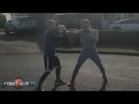 Conor McGregor working on his hands & boxing movement ahead of potential Floyd Mayweather bout