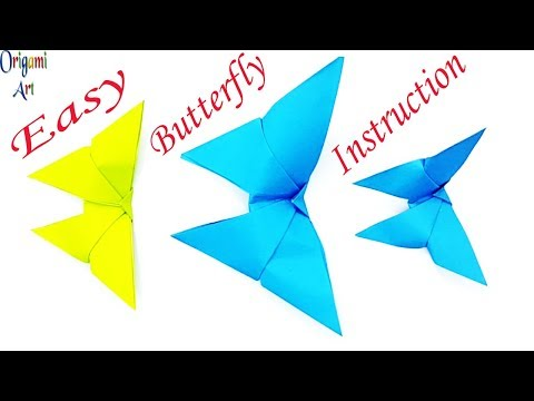 Paper Butterfly Craft   How To Make Paper Butterfly - Origami Butterfly Easy Instructions