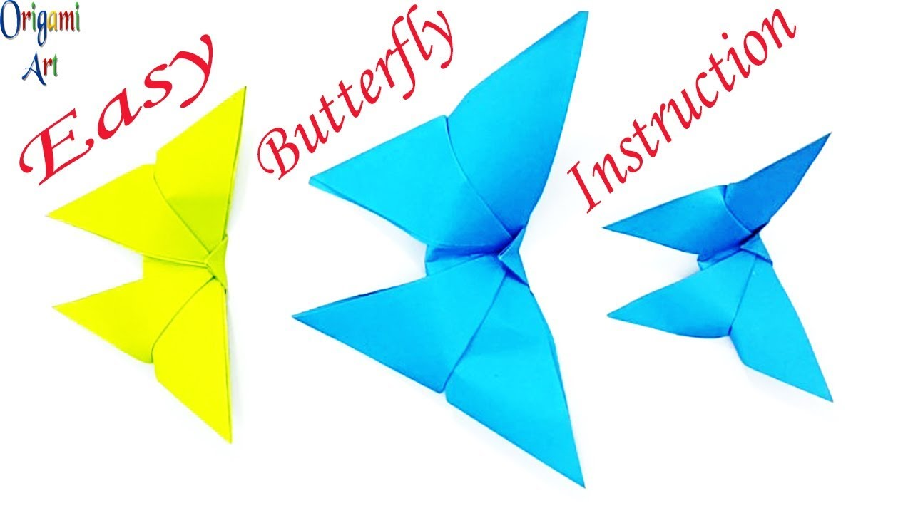 Paper Butterfly Craft How To Make Origami Butterflyorigami Diagrambutterfly Origamiorigami Easy Instructions