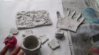 HOW TO USE AIR DRY CLAY | Fatema's Art Show