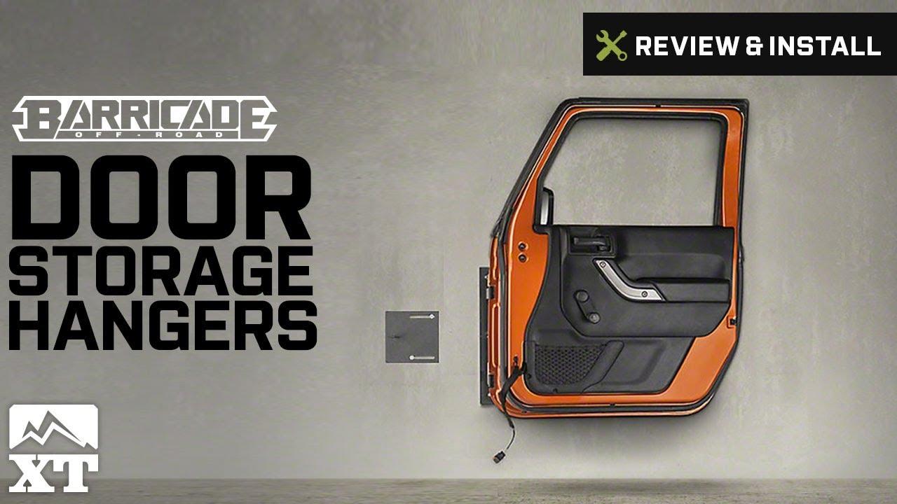 Jeep Wrangler Barricade Door Storage Hangers (2007-2017 JK) Review u0026 Install & Jeep Wrangler Barricade Door Storage Hangers (2007-2017 JK) Review ...