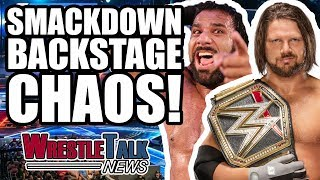 aj styles vs jinder mahal backstage wwe smackdown details   wrestletalk news nov 2017