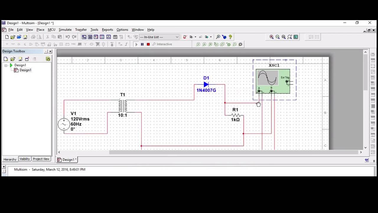 How To Construct Halfwave Rectifier Circuit Using Ni Multisim Tool Full Wave Rectification A Simple Way