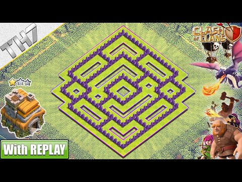 NEW BEST Town Hall 7 Base With REPLAY 2019 | TH7 Base With COPY LINK - Clash Of Clans