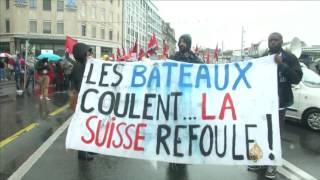 مظاهرات للاجئين في سويسرا وفرنسا تطالب بحقوقهم