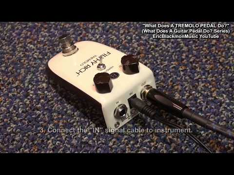 what does a tremolo pedal do guitar effects tutorial hd ericblackmonguitar youtube. Black Bedroom Furniture Sets. Home Design Ideas