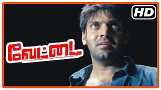 Vettai Tamil Movie   Climax Scene   Ashutosh executed   Arya becomes Police   End Credits
