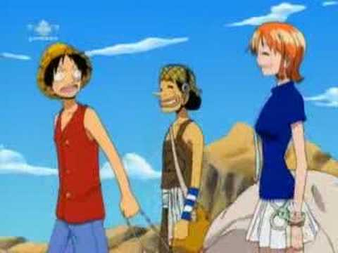 Nami won't say she's in love with Luffy