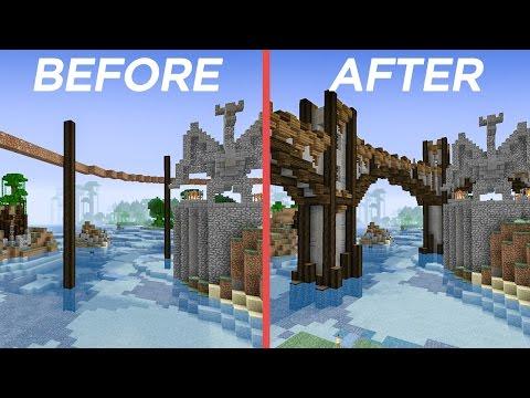 Minecraft Building w/ BdoubleO :: A Bridge With Curves ~ 429