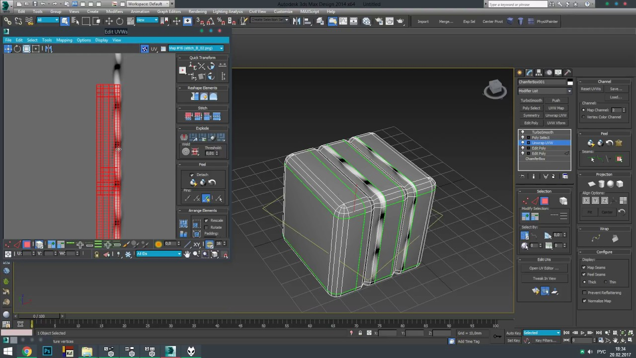 Creating Unwrap For Stitching In 3ds Max Youtube