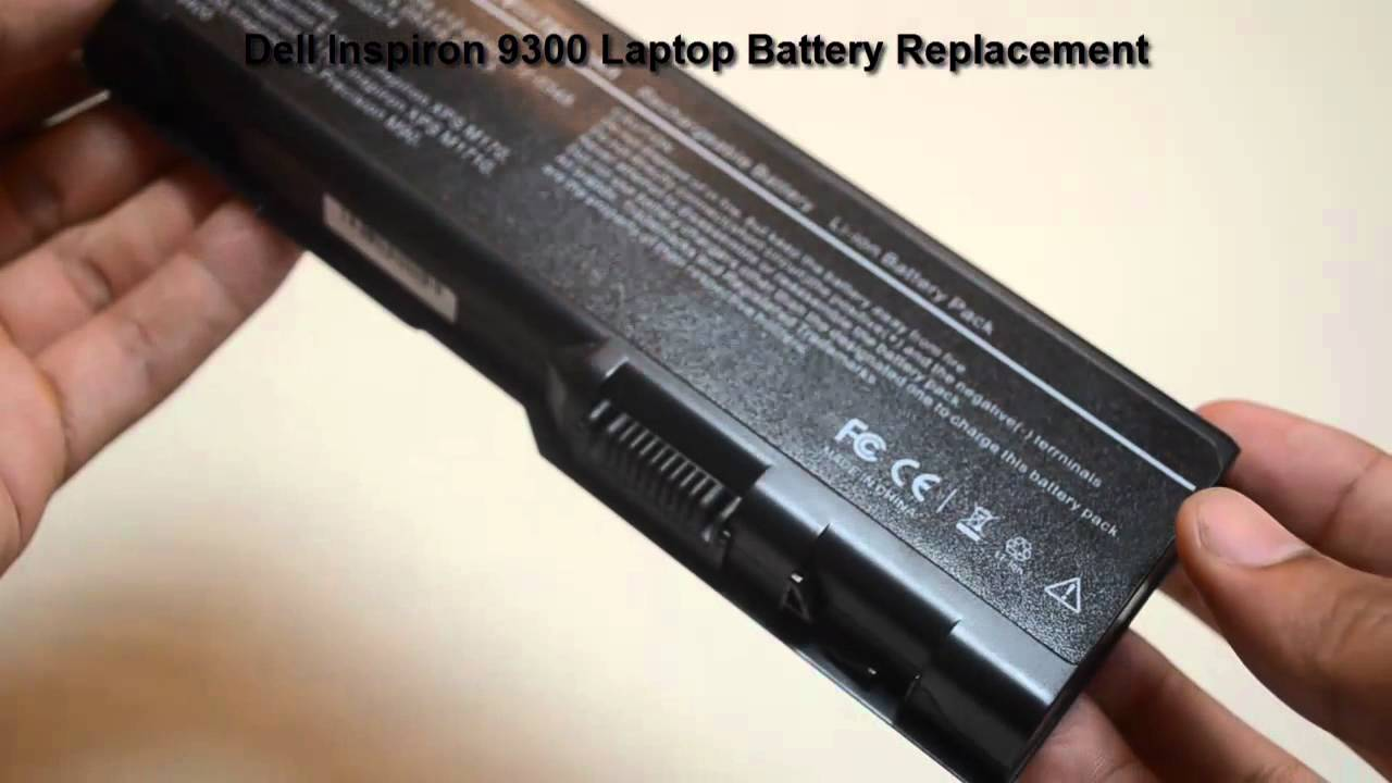 Dell-Inspiron-9300-9-Cell-Laptop-Battery-Replacement - YouTube