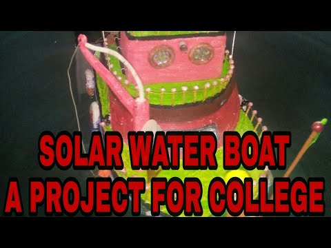 solar powered boat motor