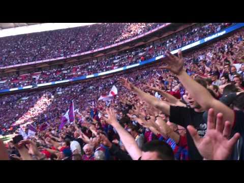 Palace singing we love you at Wembley