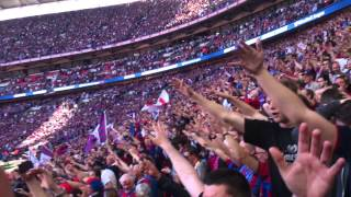 Palace singing we love you at Wembley