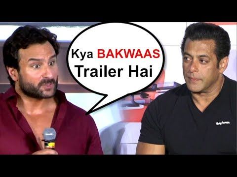 Saif Ali Khan's REACTION On Salman Khan's Race 3 Trailer- Video