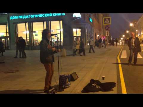 Street Musician Plays in Moscow Start Wearing Purple by Gogol Bordello