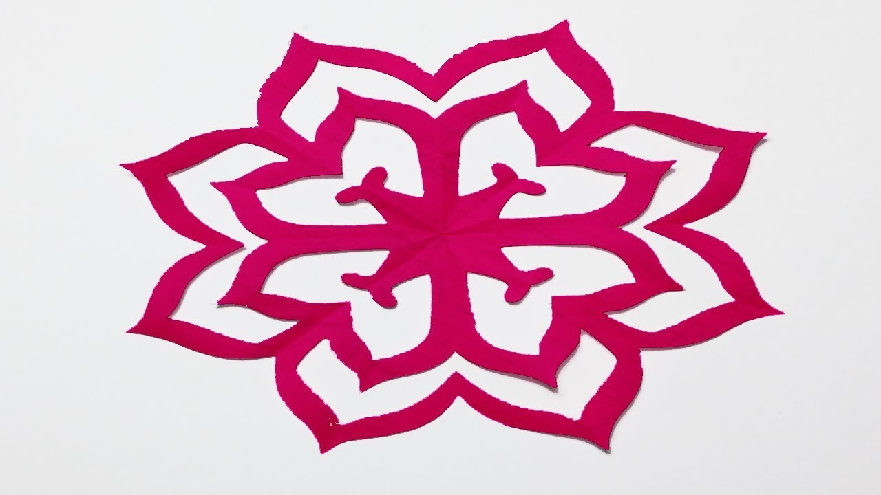 How To Make Easy Paper Cutting Flowers Simple Paper Cutting Design Paper Craft
