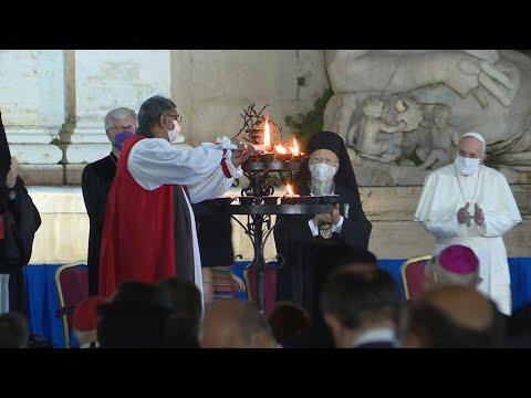 AFP Español: Francisco ora en Roma con líderes de varias religiones por la paz y la pandemia   AFP