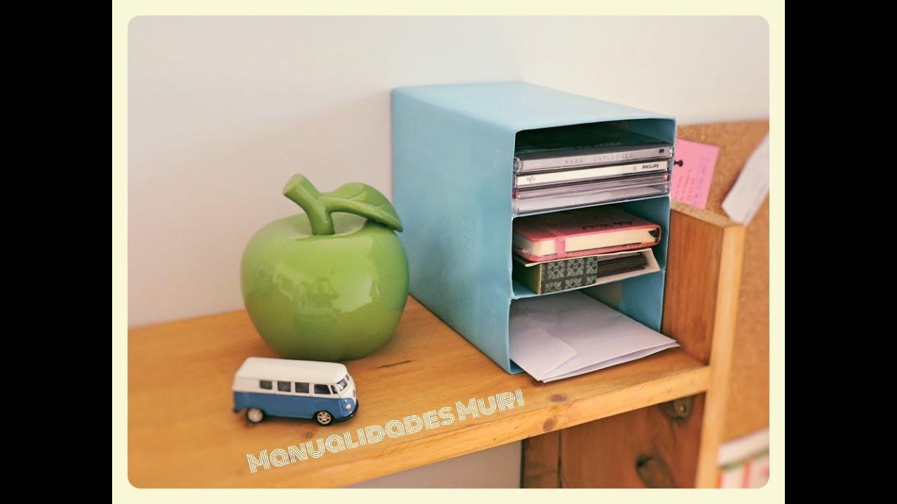 Manualidades diy como hacer un mini archivador con cajas - Manualidades con cajas ...