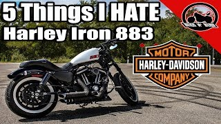 Top 5 Things I Hate About My Harley-Davidson Iron 883 Sportster