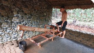 Primitive Life: Build Shed and make a Monjolo !
