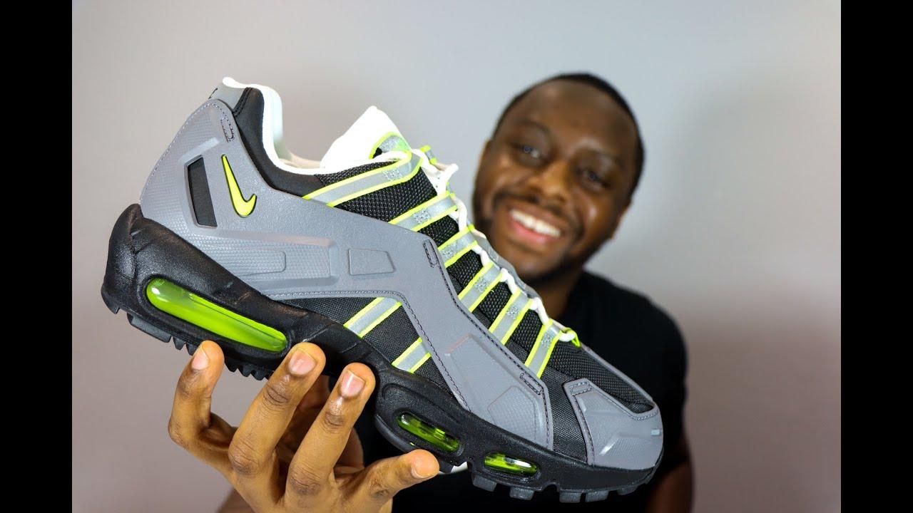 Nike Air Max 95 NDSTRKT Neon On-Feet Sneaker Review - QuickSchopes 110 Schopes - CZ3591 002 OG