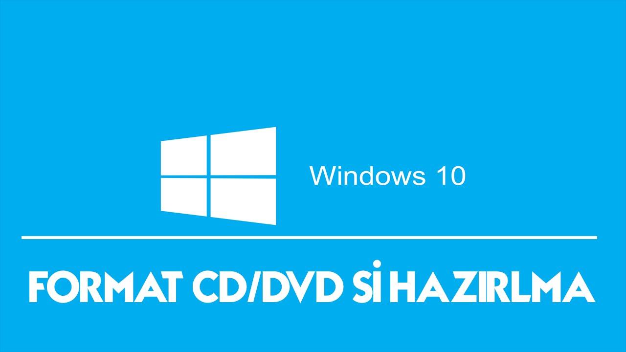 cd windows 10 format