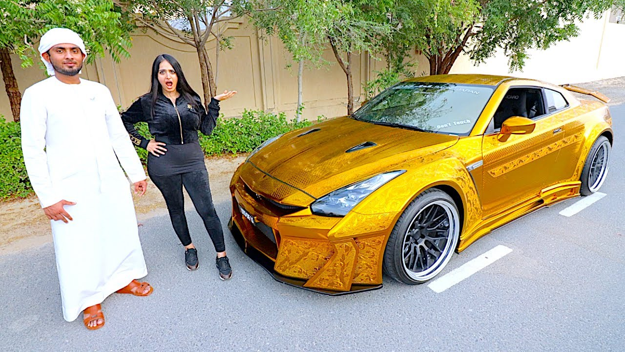 THE WORLDS MOST EXPENSIVE NISSAN GTR *REAL GOLD* !!!