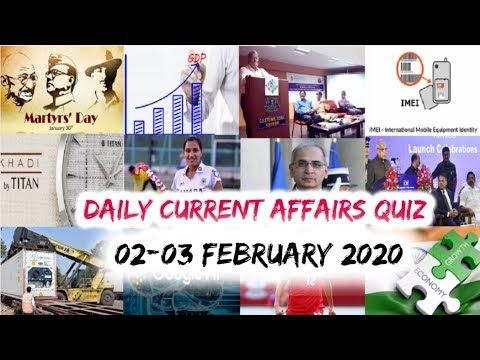 Download Daily Current Affairs February 02&03 , 2020 : English MCQ   GKToday