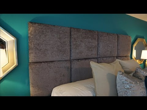 DIY Upholstered Headboard | No Sew