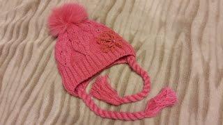 видео Зимние шапки для девочек