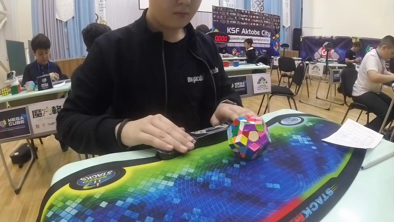 Official 1:12.59 average and 1:00.41 NR single megaminx