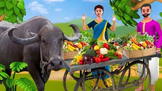 The Magical Buffalo Hindi Story | जादुई भैंस हिन्दी कहानी - 3D Animated Magical Stories