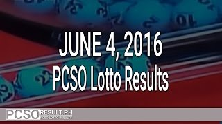 PCSO Lotto Results June 4, 2016 (6/55, 6/42, 6D, Swertres & EZ2)