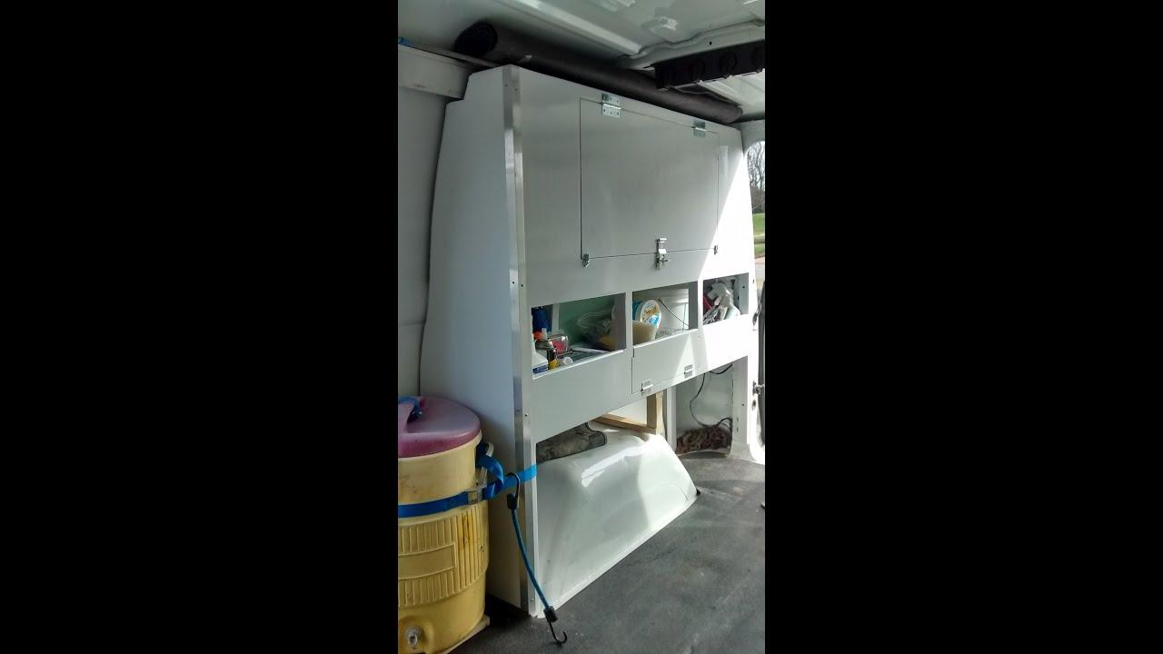 & Custom work van storage shelves and cabinets - YouTube