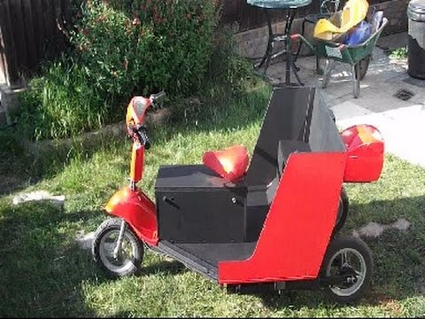 Homemade electric trike. no fuel costs.
