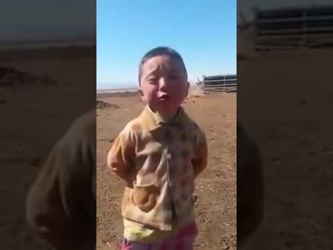 WhatsApp funny china's child sing a song