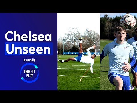 Bicycle Kick Practice With Anjorin And Gilmour! 🚲 Cech Has Still Got It 👀| Chelsea Unseen