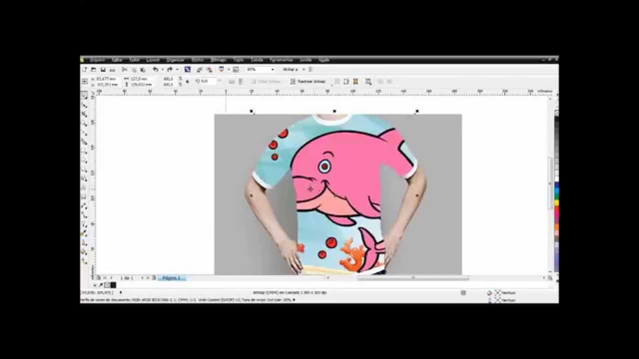 Desenho De Camisa: Curso De Corel Draw Como Fazer Mockup De Camisetas No