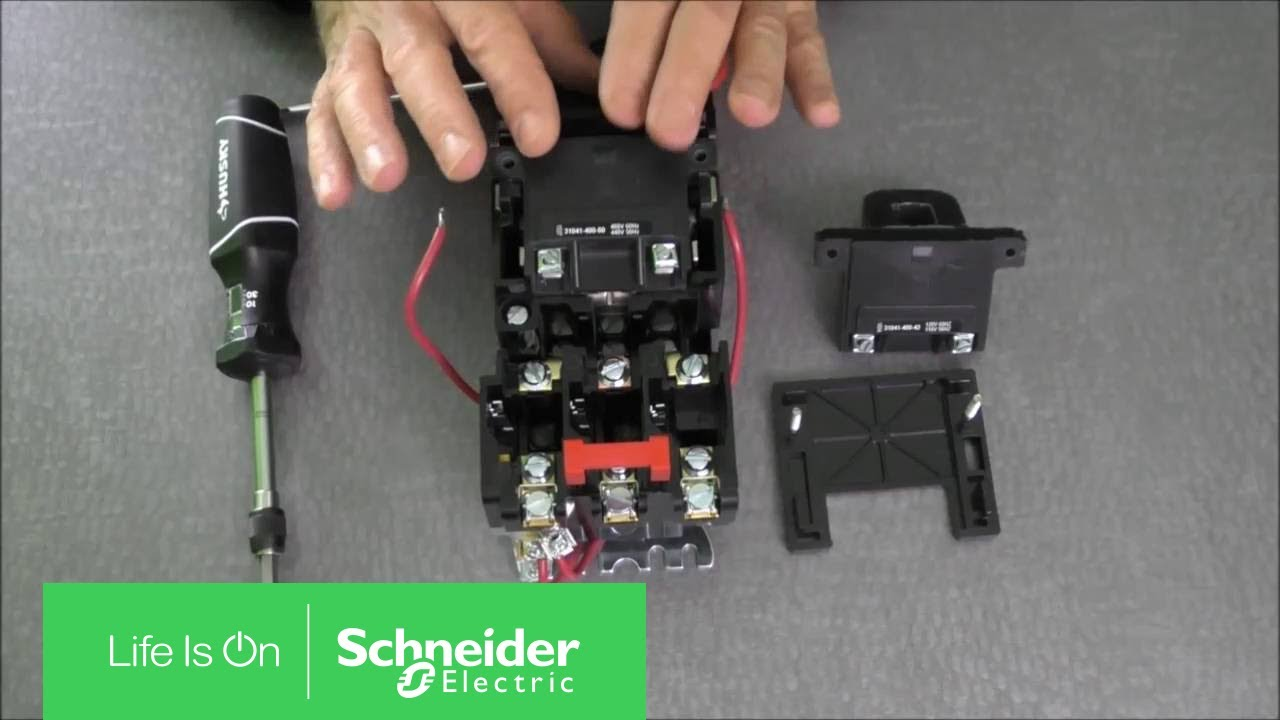 replacing coils on nema size 00 0 1 type s starters schneider rh youtube com combination starter wiring diagram square d motor starter schematic [ 1280 x 720 Pixel ]